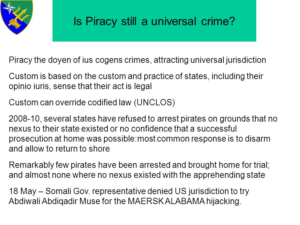 Is Piracy still a universal crime