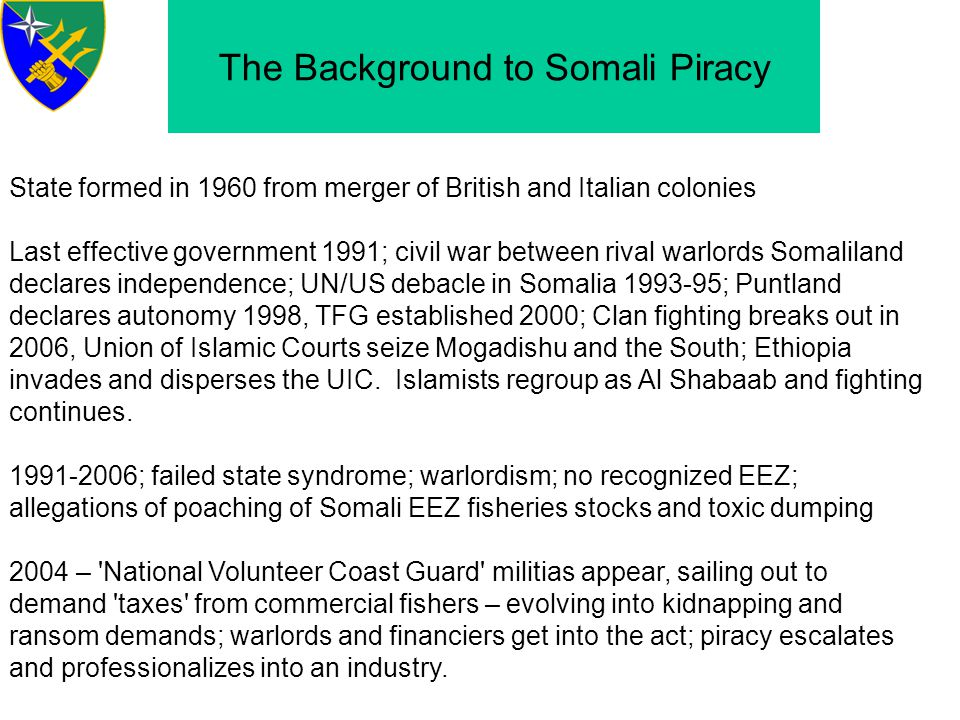 The Background to Somali Piracy
