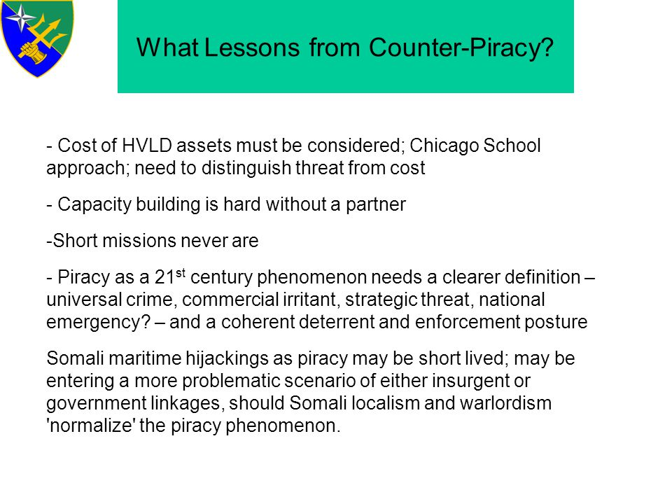 What Lessons from Counter-Piracy