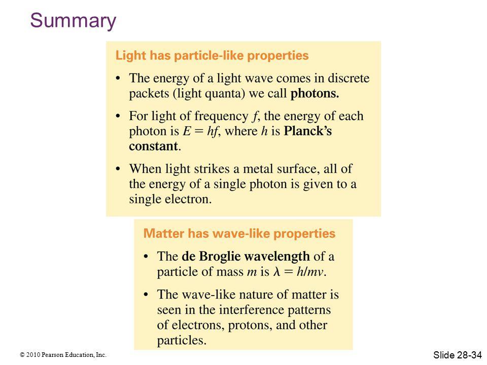 Summary Slide 28-34