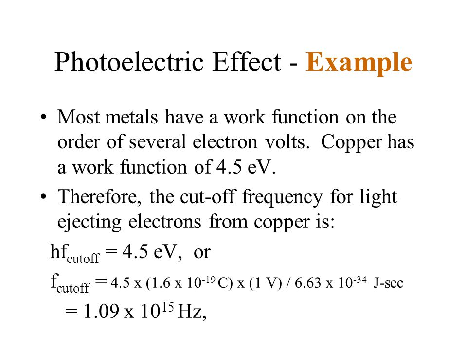 Photoelectric Effect - Example