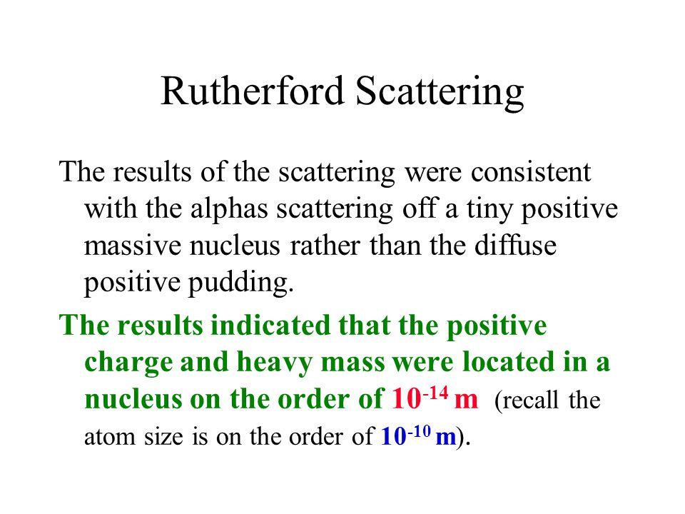 Rutherford Scattering