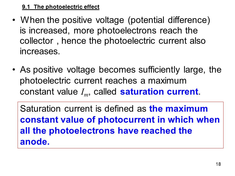 When the positive voltage (potential difference)