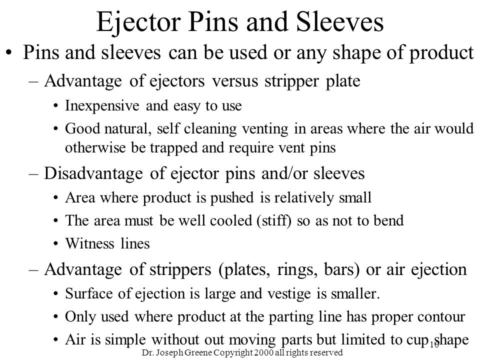 Ejector Pins and Sleeves