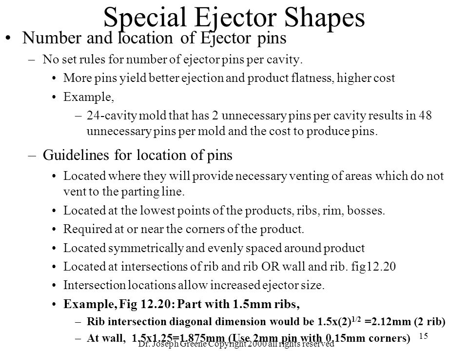 Special Ejector Shapes