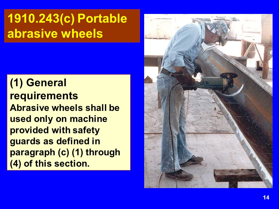 1910.243(c) Portable abrasive wheels