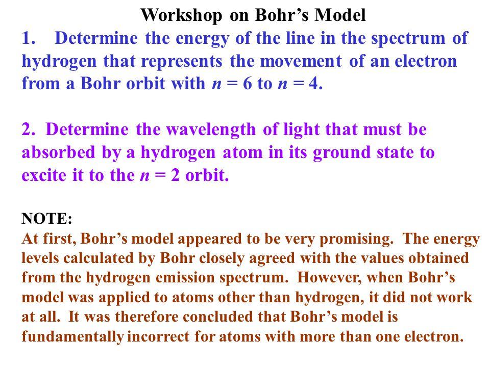 Workshop on Bohr's Model