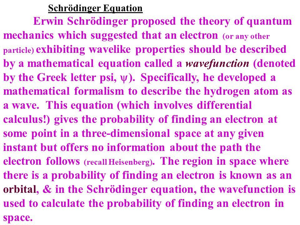 Schrödinger Equation