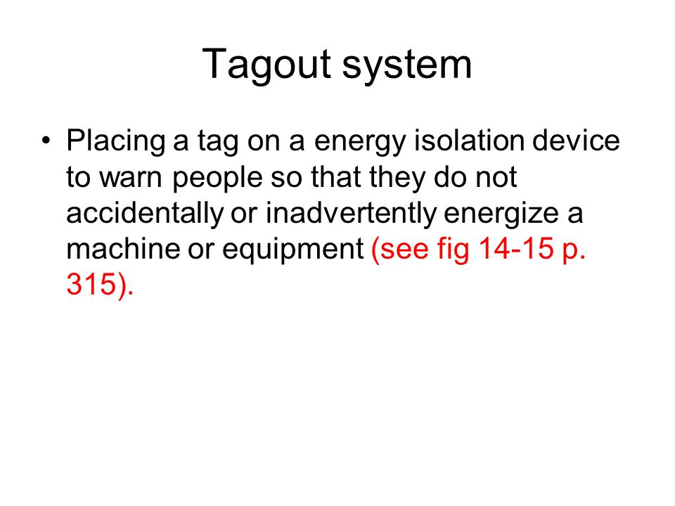 Tagout system