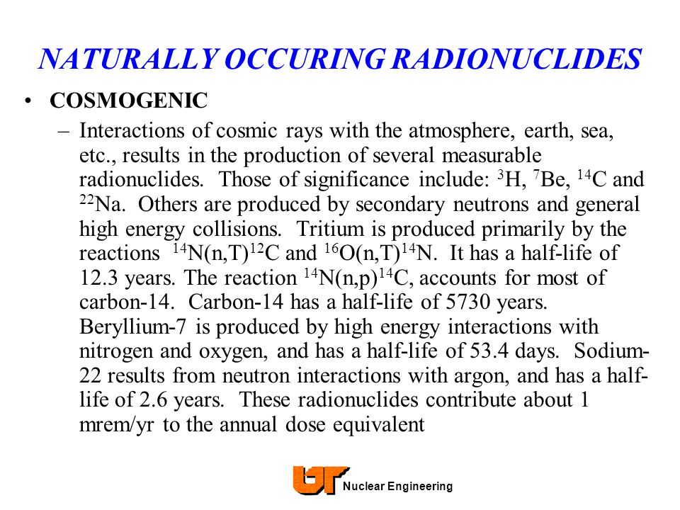 NATURALLY OCCURING RADIONUCLIDES
