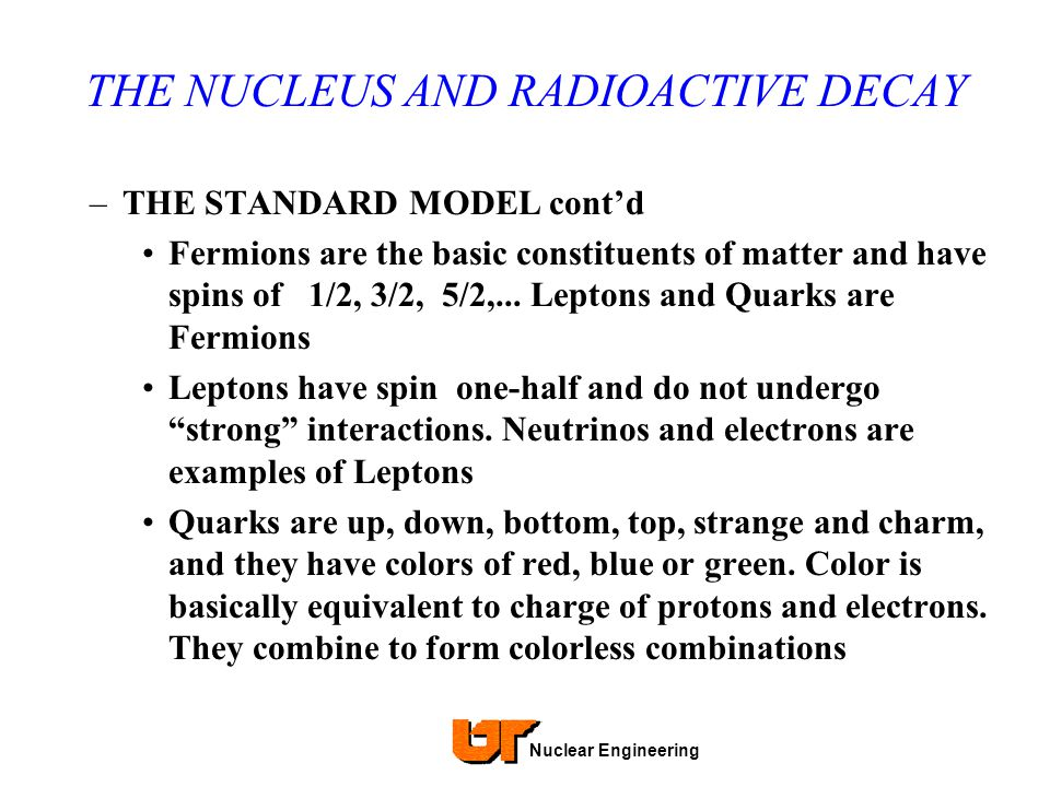 THE NUCLEUS AND RADIOACTIVE DECAY