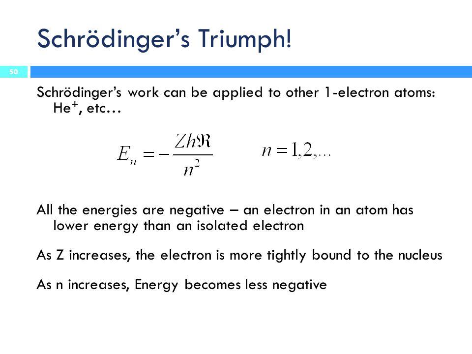 Schrödinger's Triumph!