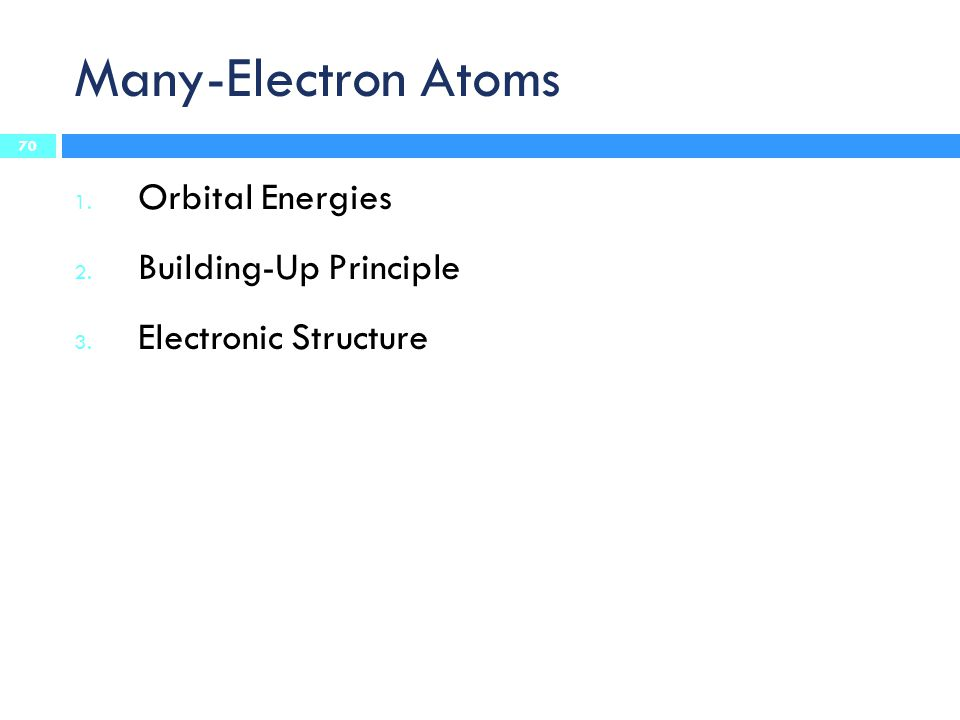 Many-Electron Atoms Orbital Energies Building-Up Principle