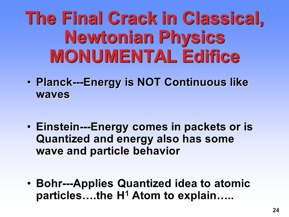 The Final Crack in Classical, Newtonian Physics MONUMENTAL Edifice