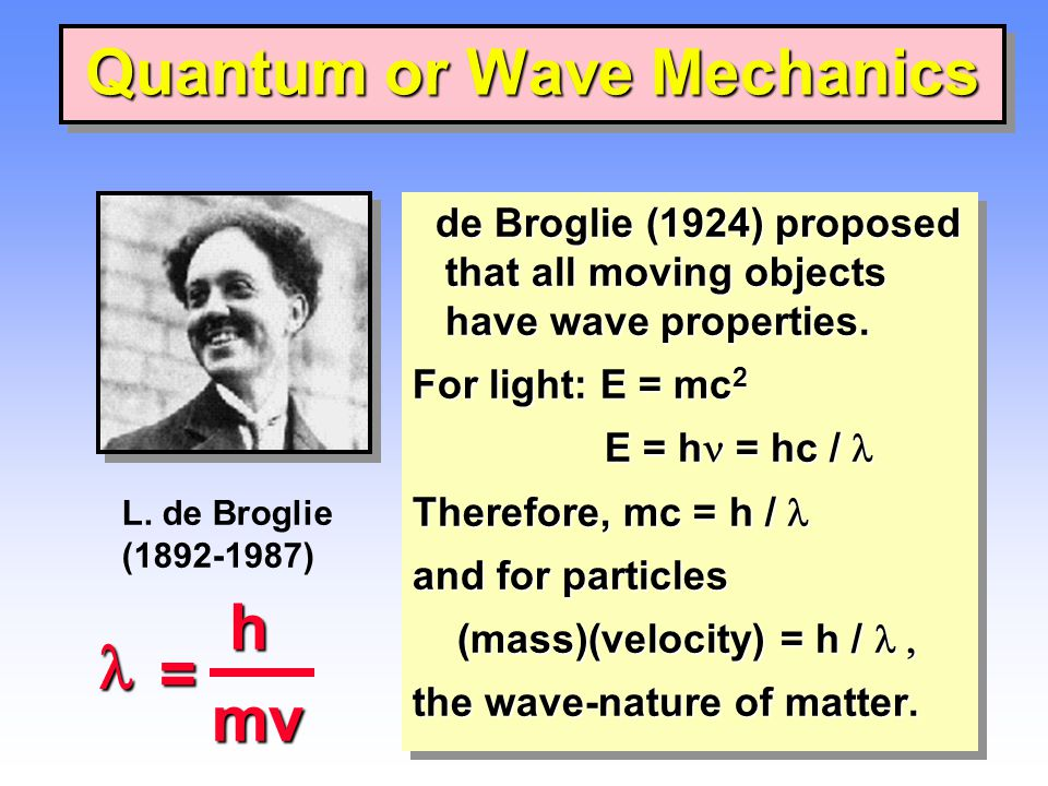 Quantum or Wave Mechanics