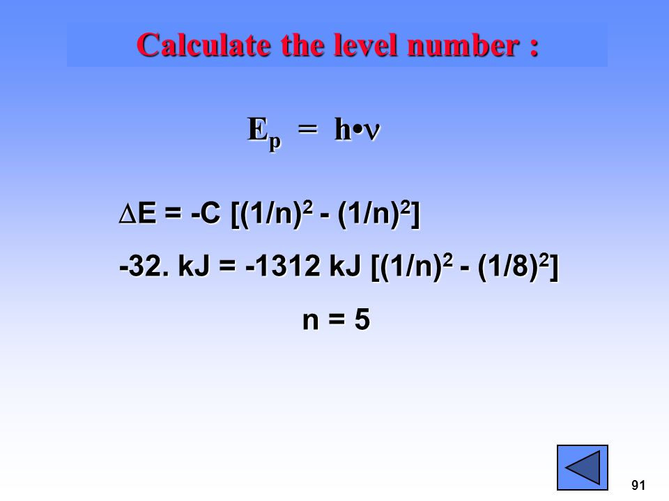 Calculate the level number :