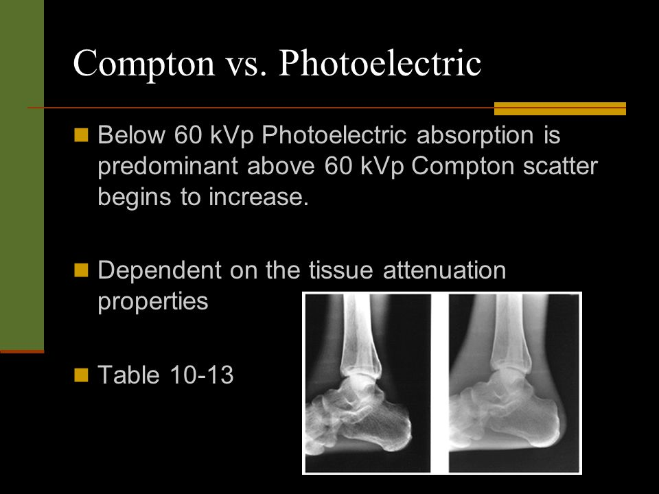 Compton vs. Photoelectric