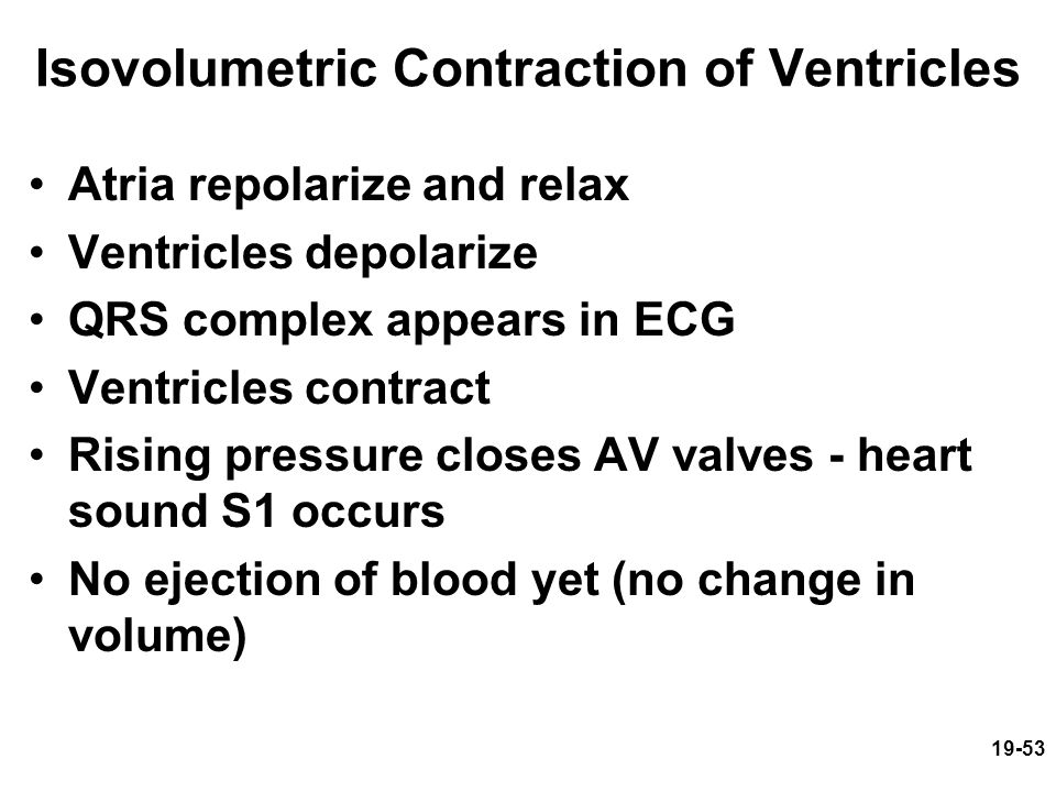 Isovolumetric Contraction of Ventricles