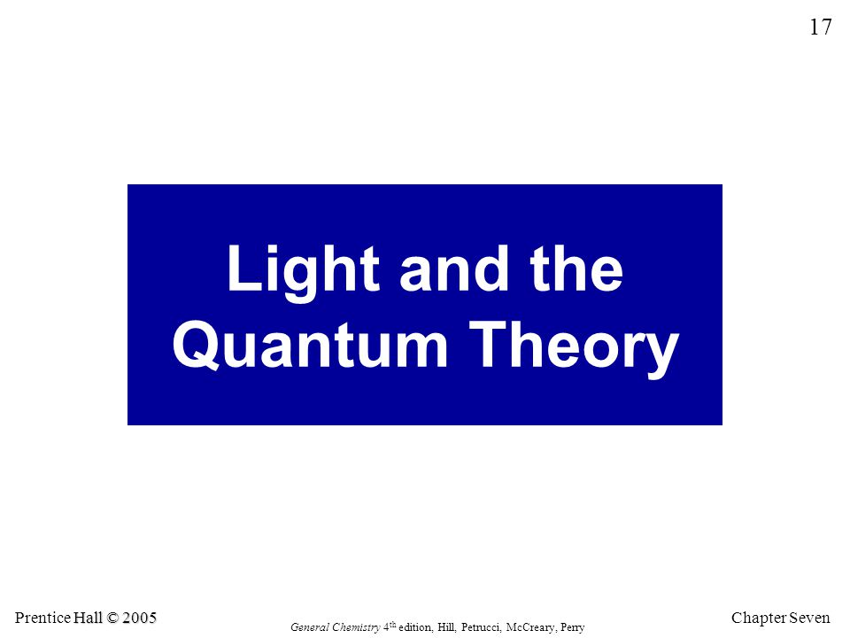 Light and the Quantum Theory