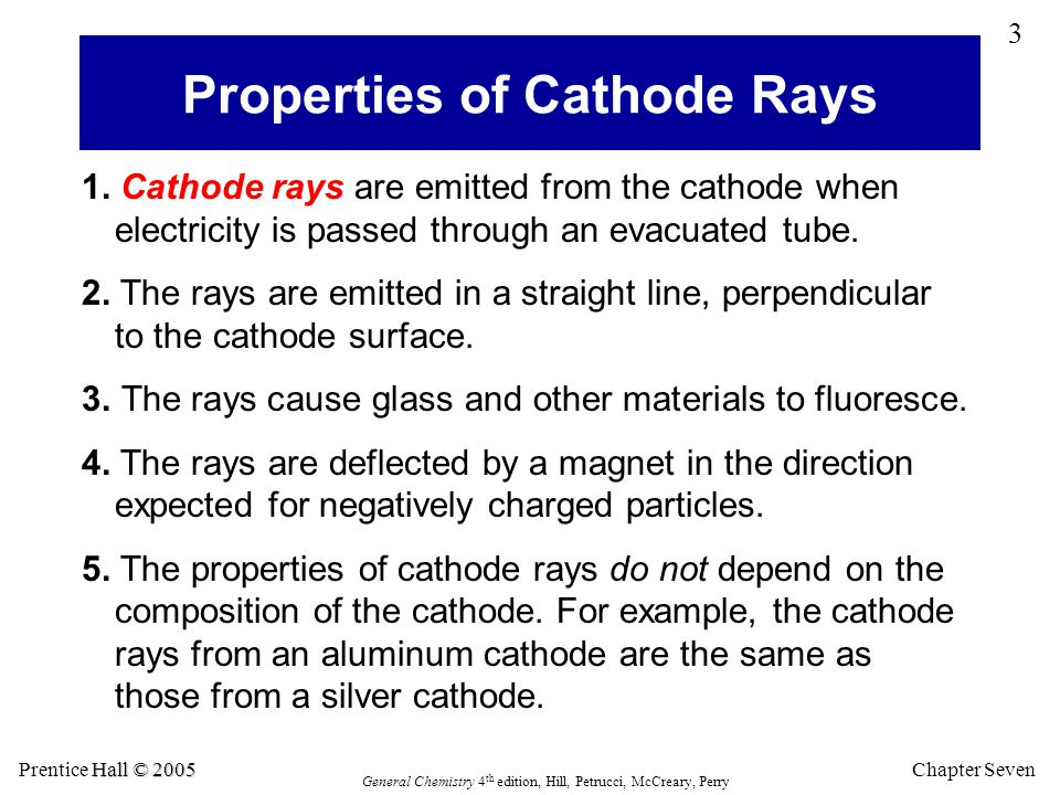 Properties of Cathode Rays