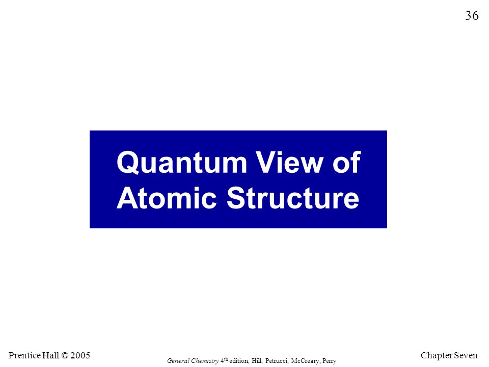 Quantum View of Atomic Structure