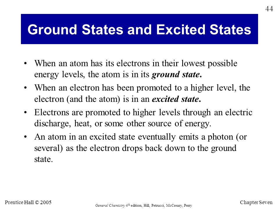 Ground States and Excited States