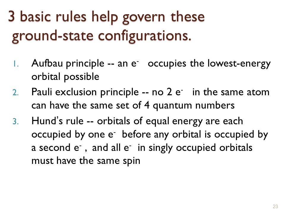 3 basic rules help govern these ground-state configurations.