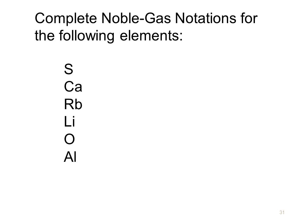 Complete Noble-Gas Notations for