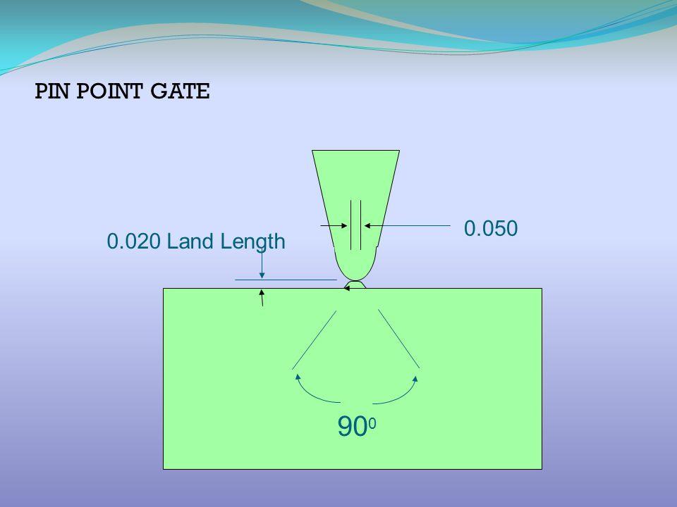 PIN POINT GATE 0.050 0.020 Land Length 900