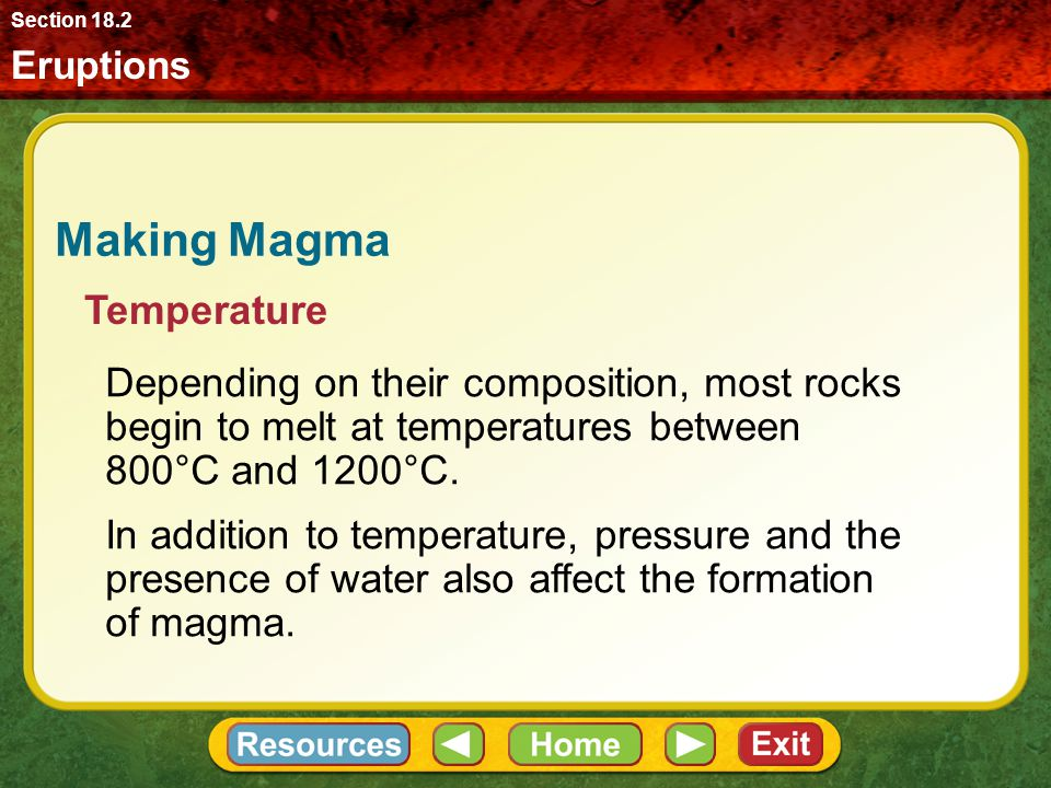 Making Magma Temperature