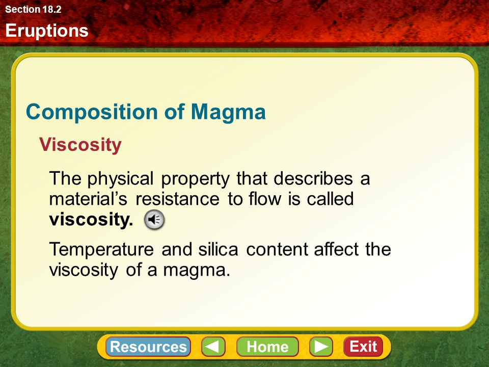 Composition of Magma Viscosity