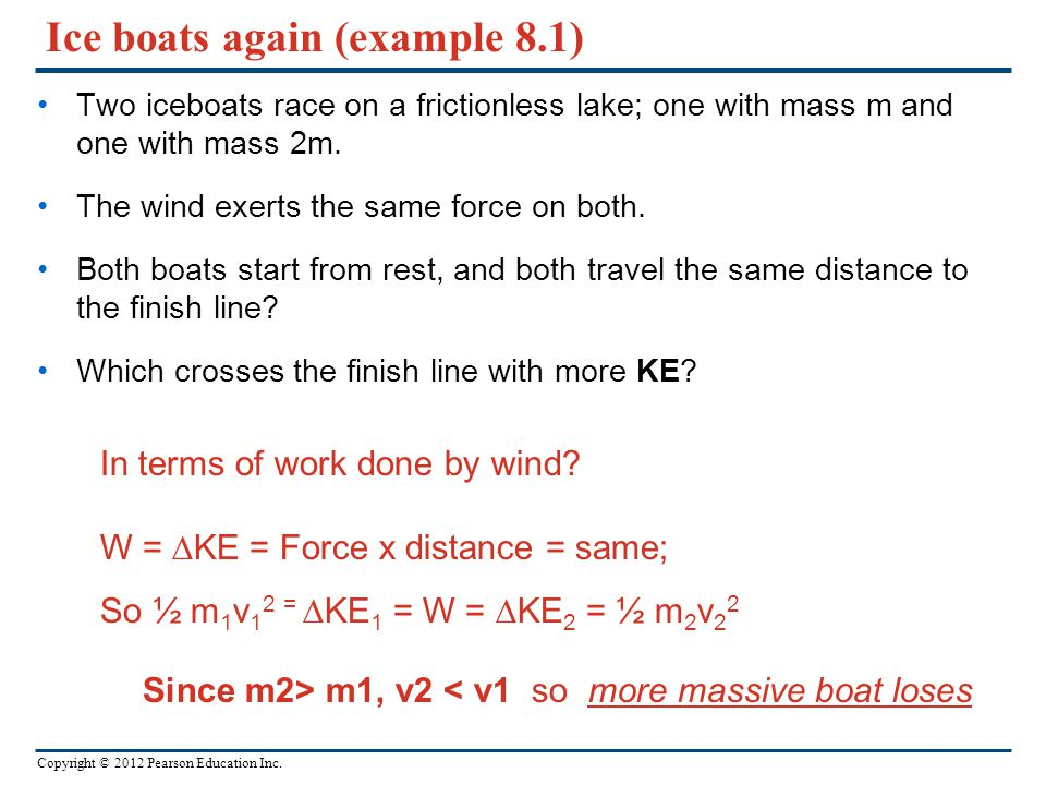 Ice boats again (example 8.1)
