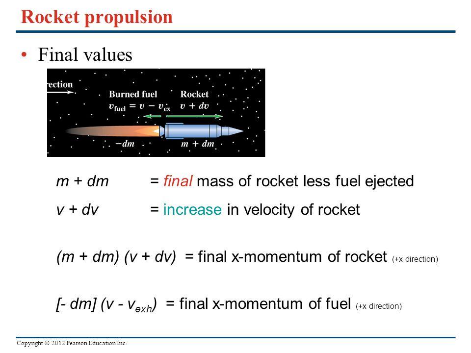 Rocket propulsion Final values