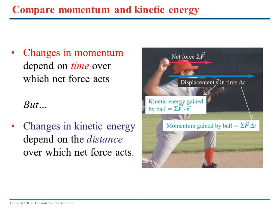 Compare momentum and kinetic energy