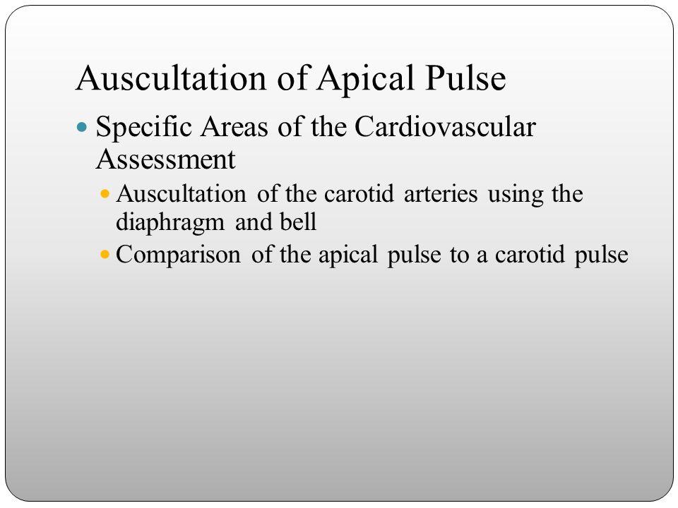 Auscultation of Apical Pulse