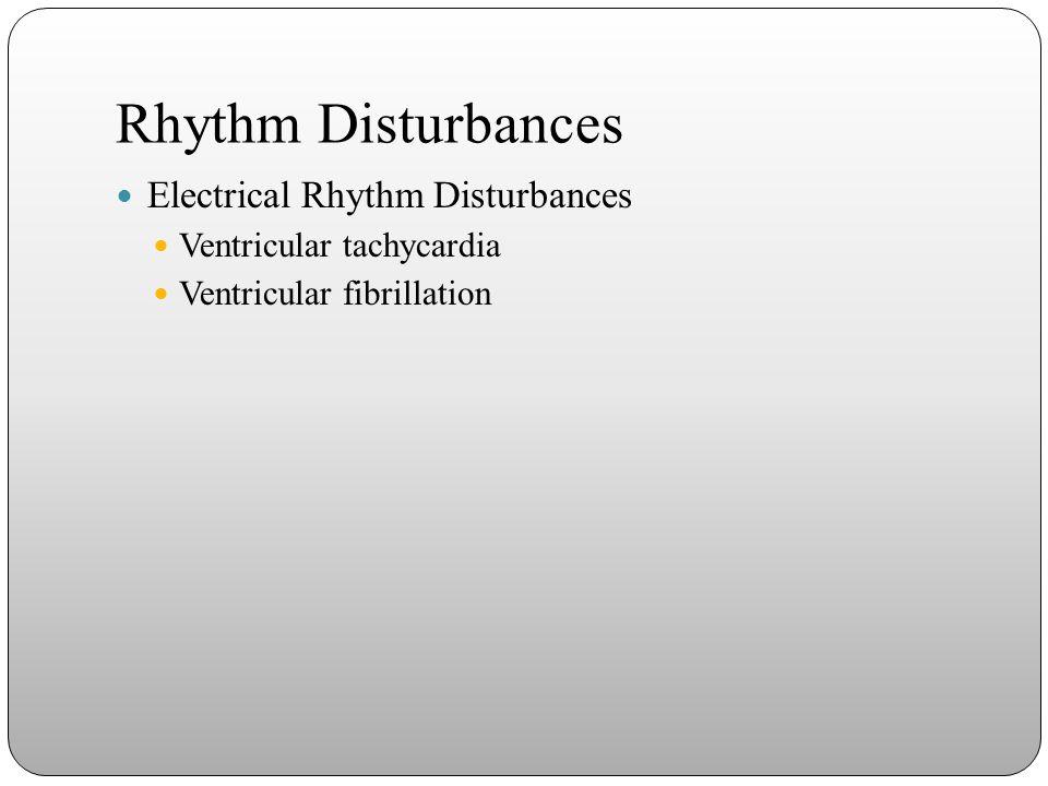Rhythm Disturbances Electrical Rhythm Disturbances