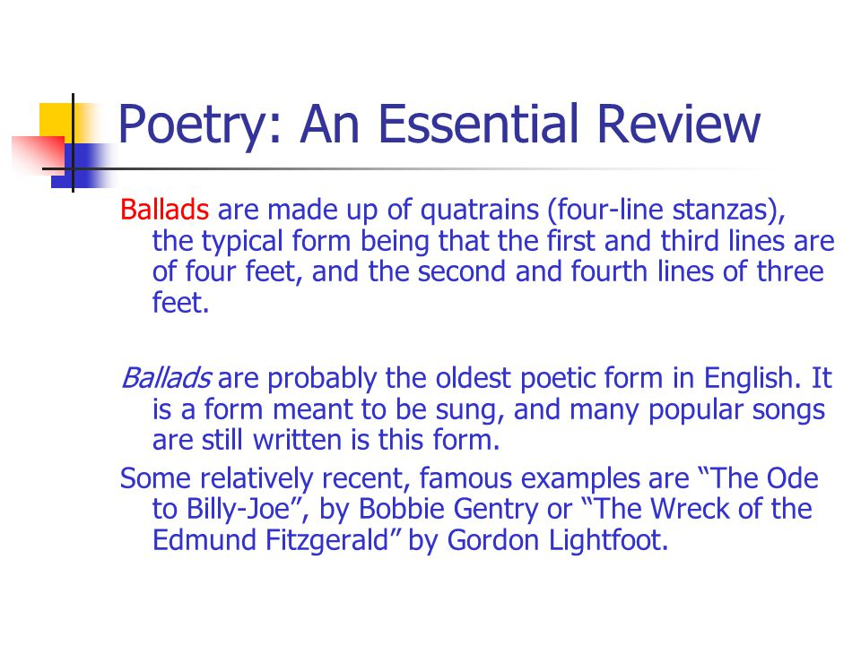 Poetry: An Essential Review