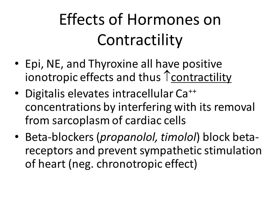 Effects of Hormones on Contractility