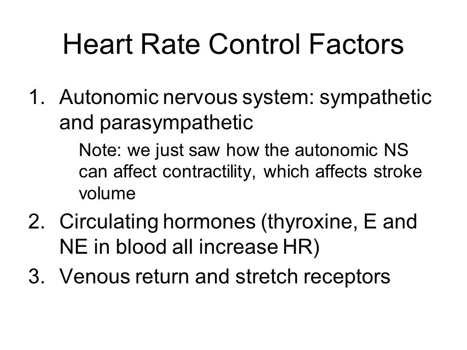 Heart Rate Control Factors