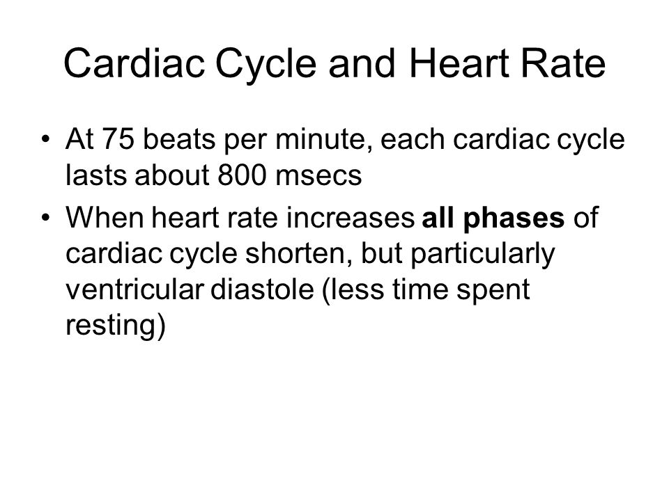 Cardiac Cycle and Heart Rate