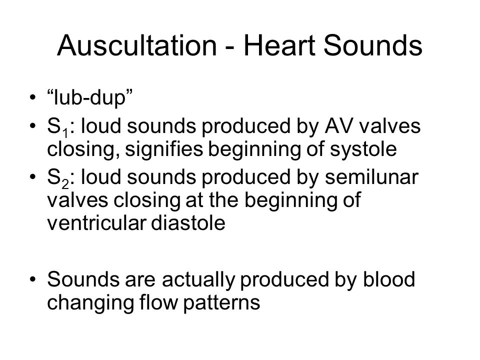 Auscultation - Heart Sounds