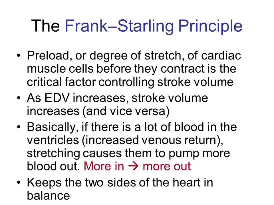 The Frank–Starling Principle
