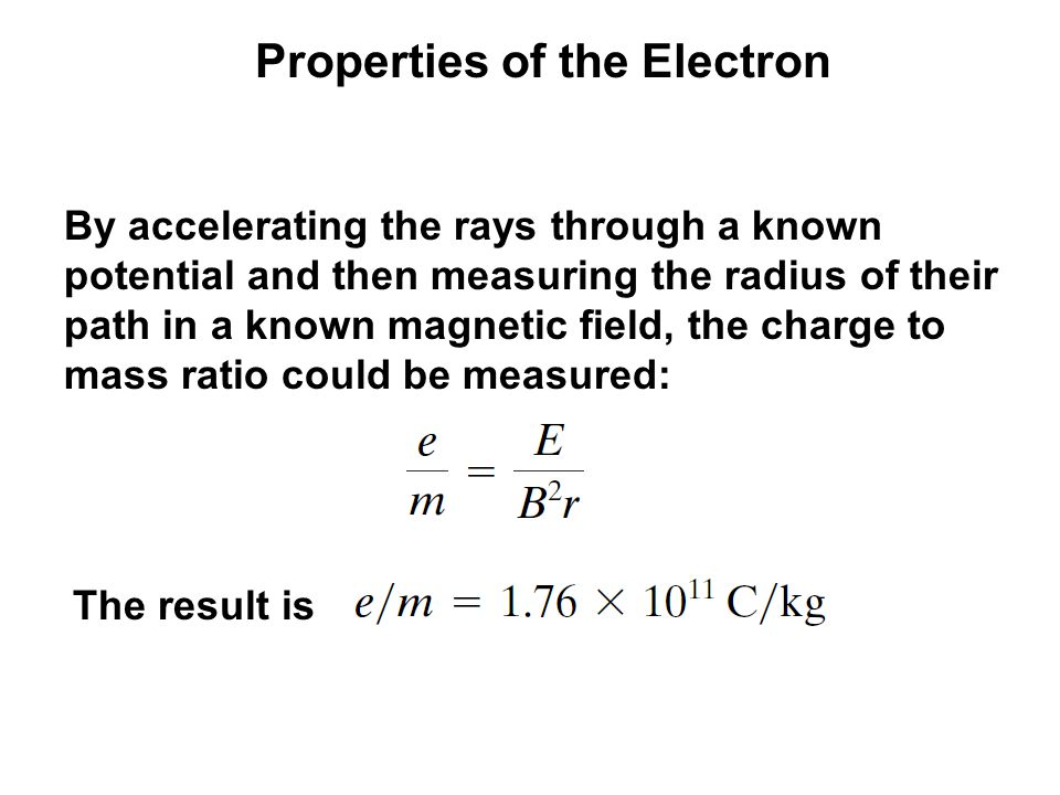 Properties of the Electron