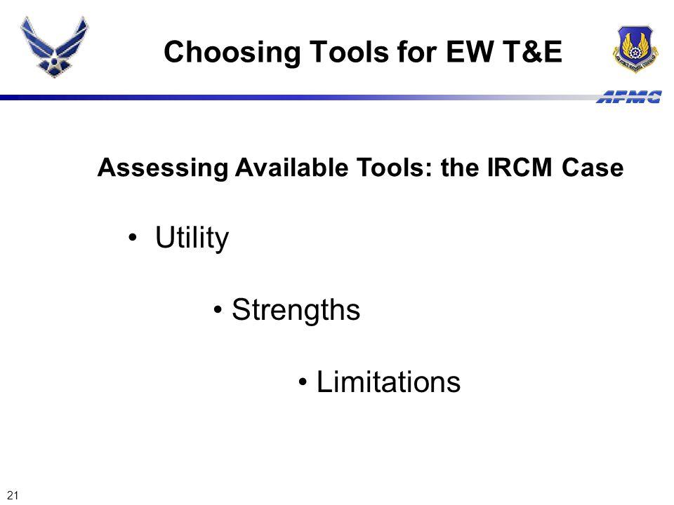 Choosing Tools for EW T&E