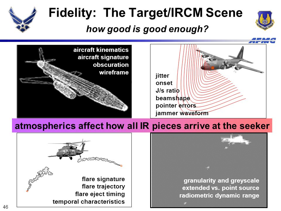 Fidelity: The Target/IRCM Scene how good is good enough