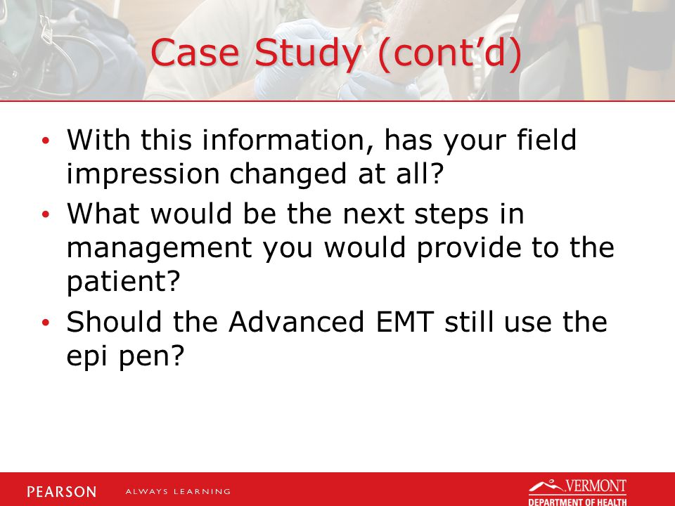 Case Study (cont'd) With this information, has your field impression changed at all