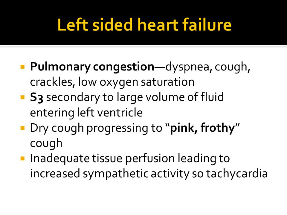 Left sided heart failure