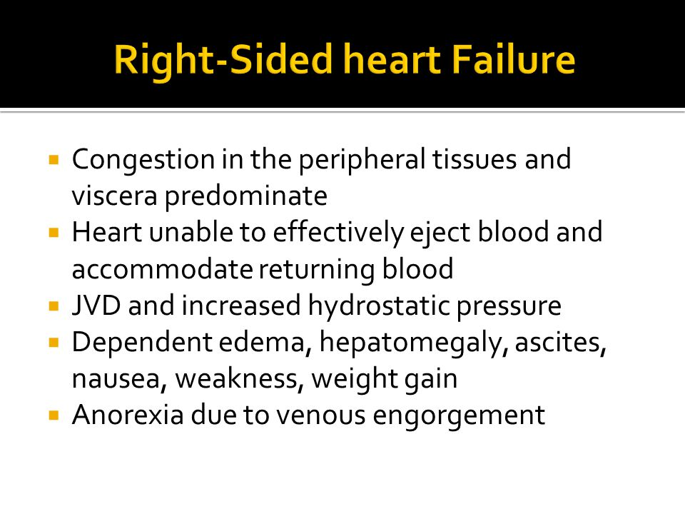 Right-Sided heart Failure