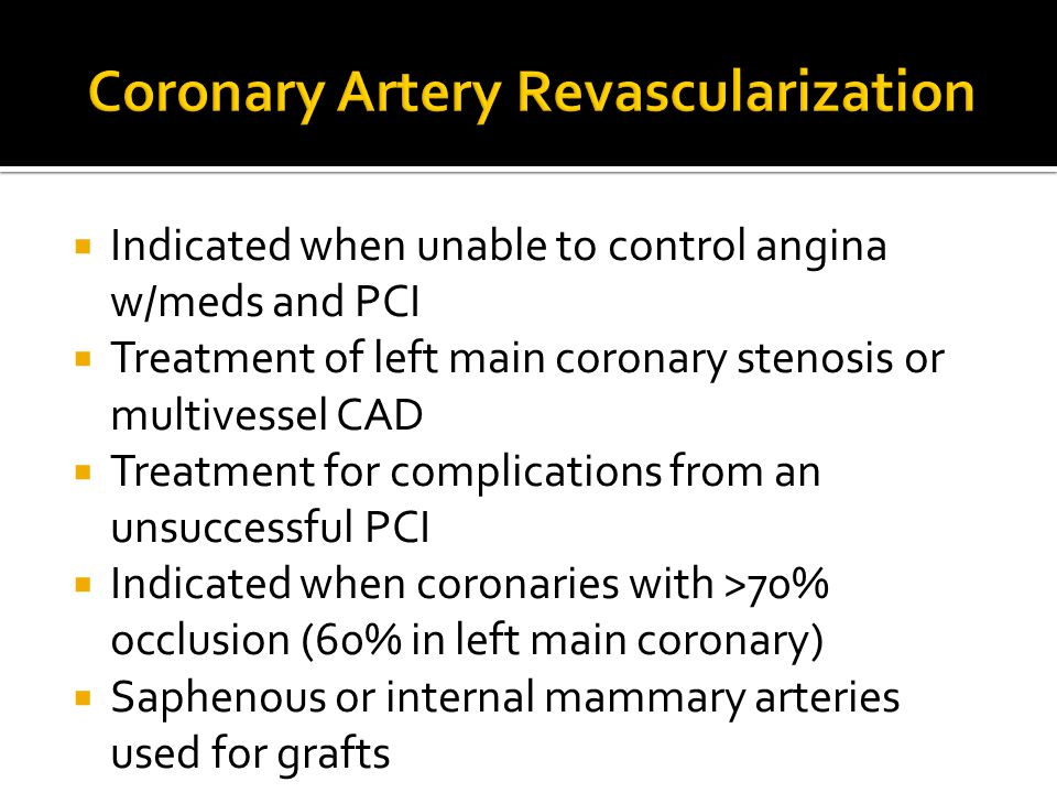 Coronary Artery Revascularization