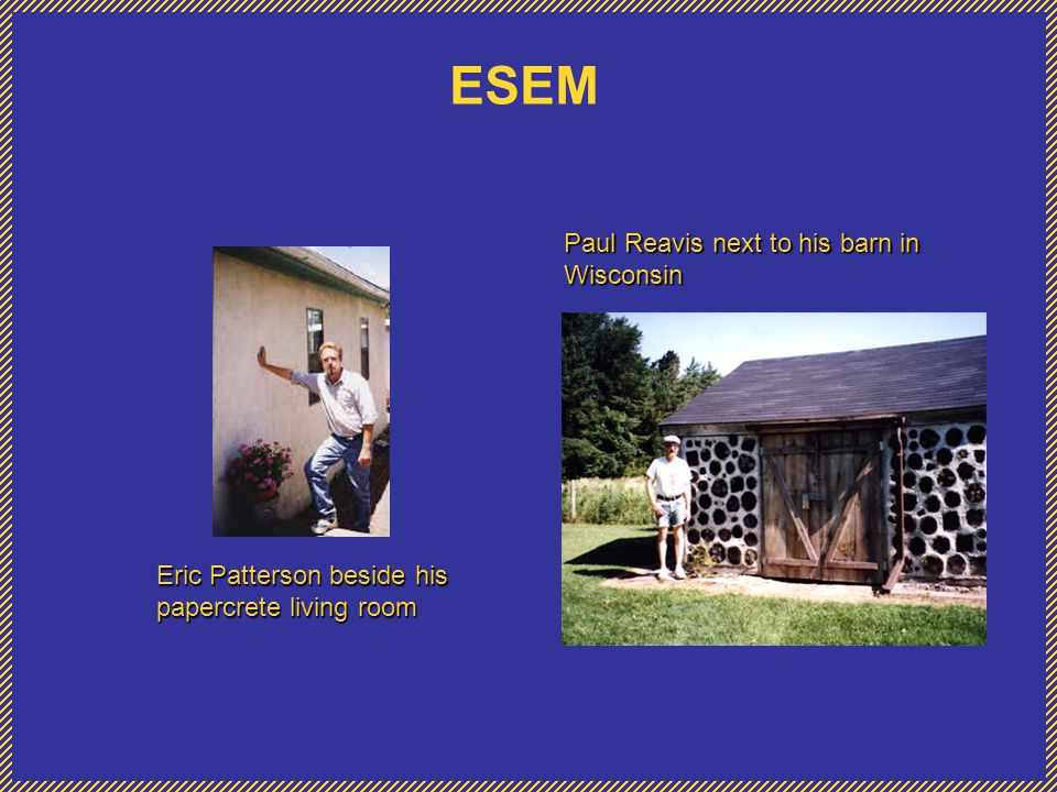 ESEM Paul Reavis next to his barn in Wisconsin